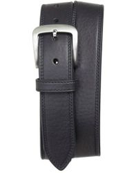 Shinola - Double Stitch Leather Belt - Lyst