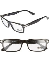 Persol - 53mm Rectangle Optical Glasses - - Lyst