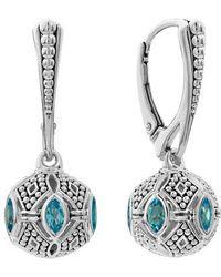 Lagos - Caviar Talisman Marquee Leverback Earrings - Lyst