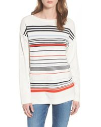 Barbour - Whitby Stripe Cotton Sweater - Lyst