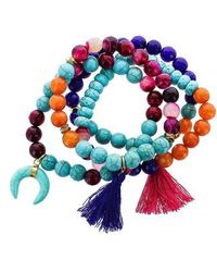 Panacea - Set Of 4 Beaded Stretch Bracelets - Lyst