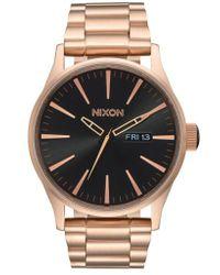 Nixon - 'the Sentry' Bracelet Watch - Lyst