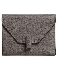 Valextra - Iside Leather Trifold Wallet - Lyst