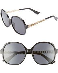 17c306f1760ca Dior - Ama 58mm Special Fit Round Sunglasses - Havana Pink - Lyst