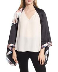 Ted Baker - Tranquility Silk Cape Scarf - Lyst