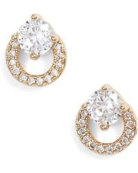Nordstrom - Open Circle Solitaire Stud Earrings - Lyst