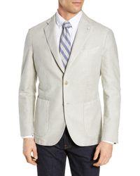 L.B.M. 1911 - Lubiam Trim Fit Solid Cotton & Linen Sport Coat - Lyst