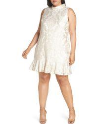 Eliza J - Sleeveless Jacquard Shift Dress - Lyst
