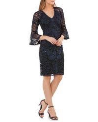 JS Collections - Bell Sleeve Bead & Soutache Cocktail Dress - Lyst