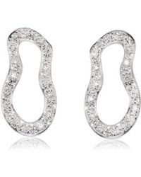 Monica Vinader | Riva Pave Diamond Drop Earrings | Lyst
