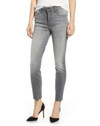 Mother - The Looker Frayed Ankle Jeans - Lyst