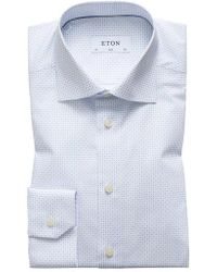 Eton of Sweden - Slim Fit Cross Print Dress Shirt - Lyst