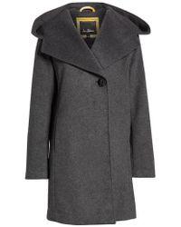 Sam Edelman - Shawl Collar Hooded Coat - Lyst