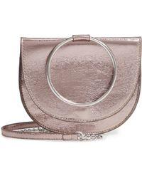 Trouvé - Reese Crackle Ring Crossbody Bag - Metallic - Lyst