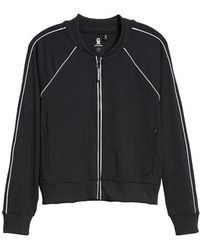 GOOD AMERICAN - Piped Bomber Jacket - Lyst