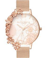 Olivia Burton - Case Cuff Mesh Strap Watch - Lyst