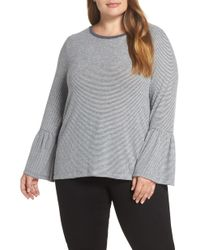 Lucky Brand - Hacci Bell Sleeve Stripe Top - Lyst
