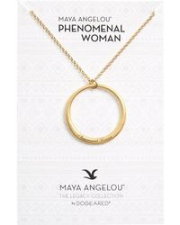 Dogeared | Legacy Collection - Phenomenal Women Open Circle Pendant Necklace | Lyst