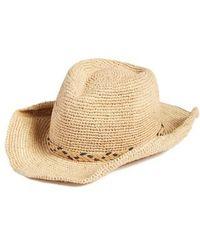 Caslon - Caslon Packable Raffia Panama Hat - - Lyst
