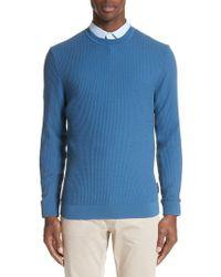 Emporio Armani - Slim Fit Textured Crew Sweater - Lyst