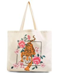 TOPSHOP | Tiger Canvas Tote | Lyst