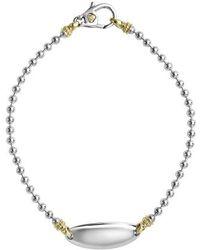 Lagos - Beloved Oval Plate Bracelet - Lyst