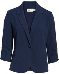 Eliza J - Single-Button Crepe Blazer - Lyst
