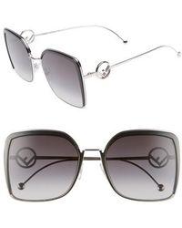 Fendi - 58mm Square Sunglasses - - Lyst