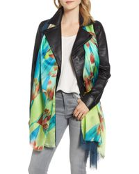 Echo - Cascading Floral Double Faced Scarf - Lyst