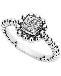 Lagos | Caviar Spark Diamond Square Ring | Lyst