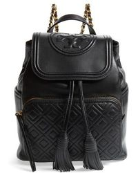 Tory Burch - Fleming Lambskin Leather Backpack - Lyst