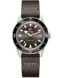 Rado - Hyperchrome Captain Cook Automatic Leather Strap Watch - Lyst