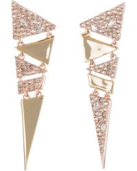 Alexis Bittar - Articulated Triangle Post Earrings - Lyst