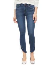 Joe's - Icon Ruffle Hem Ankle Skinny Jeans - Lyst