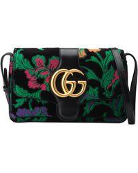 4da06e386a3 Gucci - Small Arli Floral Chenille Jacquard Shoulder Bag - Lyst