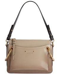 Chloé - Large Roy Leather Shoulder Bag - - Lyst