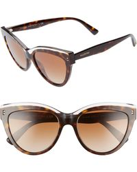 a8f9080854d Lyst - Valentino Rockstud Square Oversized Sunglasses in Brown