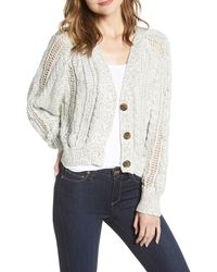 Cupcakes And Cashmere - Venice Cable Knit Cardigan - Lyst