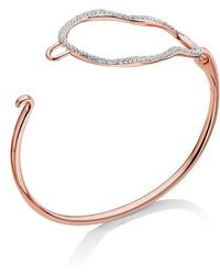 Monica Vinader - Riva Diamond Hook Bracelet - Lyst