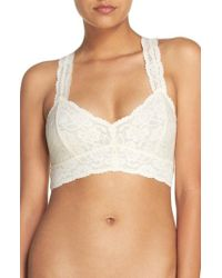 Free People - Intimately Fp Lace Racerback Bralette - Lyst