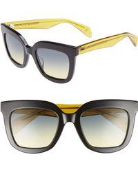 6c74f1e656ba Lyst - Rag   Bone 63mm Oversize Aviator Sunglasses -