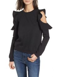 Rebecca Minkoff - Gracie Cold Shoulder Sweatshirt - Lyst
