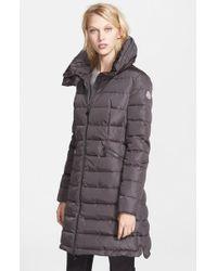 Moncler 'flamme' Pillow Collar Down Coat