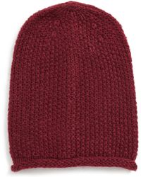 Rebecca Minkoff - Simple Solid Slouchy Beanie - - Lyst