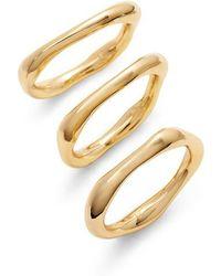 Gorjana - Quinn Set Of 3 Rings - Lyst