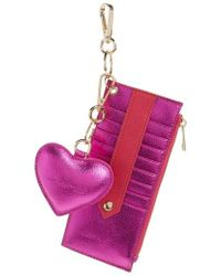 mali + lili - Mali + Lili Sydney Vegan Leather Card Case With Heart Charm - Lyst