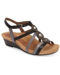 Cobb Hill - Embellished Wedge sandals - Lyst