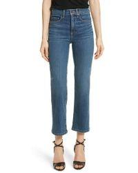 Veronica Beard - Jackie Crop Straight Leg Jeans - Lyst