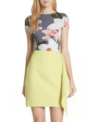 Ted Baker - Chatsworth Bloom Fitted Tee - Lyst