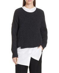 Vince - Overlap Panel Sweater - Lyst